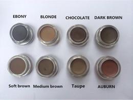 Venta al por mayor de NUEVO Hot Pomade Medio Marrón Maquillaje impermeable Ceja 4g Rubio / Chocolate / Marrón oscuro / Ébano / Castaño / Marrón medio / TALPE / Marrón suave DHL + regalo