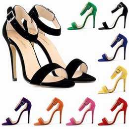 Discount models shoe size - Sapato Feminino Party Sexy High-heeled Women's Shoes Fashion Sandals Ultra-thin Models Roman Sandals Big Size 35-42