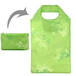Nylon Folding Tote Shopping Bag Canada - Wholesale- New Design Eco-friendly Foldable Reusable Grocery Bags Portable Storage Tote Handbags Folding Travelling Bag Nylon Shopping Bags