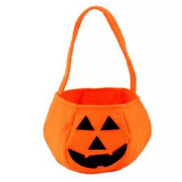 ca0f52bf5874 Милые дети детские улыбка тыква мешок конфет новинка забавные игрушки для  детей Хэллоуин фестиваль трюк или лечения партии украшения подарки