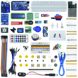 Arduino dupont wire online shopping - Freeshipping Kit for Arduino Uno with Mega LCD HC SR04 Dupont Line Jumper Wires Sensors LED Plastic Box