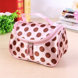gold make up bag 2019 - Wholesale- 2017 New Zipper Cosmetic Bag Lady Travel Organizer Accessory Toiletry Cosmetic Make Up Holder Case Bag Pouch