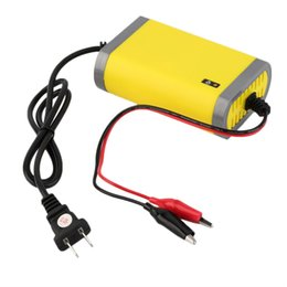 Discount automatic motorcycle - Wholesale- Portable Car Battery Charger 12v 2A Fully-automatic Car motorcycle battery charger Adaptor Power Supply US Pl