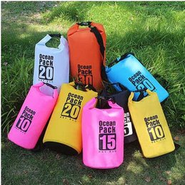 $enCountryForm.capitalKeyWord Canada - Summer Outdoor Sport Waterproof Bags Drifting Rafting Swimming Dry Storage Large Capacity Portable Light PVC Waterproof Bags Free Shipping