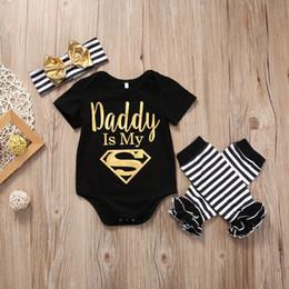 $enCountryForm.capitalKeyWord NZ - Baby Christmas Pajamas Romper Set Kids Clothing Toddler Outfit Infant Onesies+Headband+Legging Summer Leotards Children Jumpsuit Suit