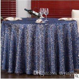 europe jacquard table cloth table cover round banquet wedding party decoration tables satin fabric wedding tablecloth home textile round table