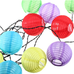 Discount solar party lights 2018 solar party lights outdoor on colorful 10pcs multicolor solar chinese lantern wedding party outdoor light garden lamp event festive party supplies budget solar party lights mozeypictures Image collections