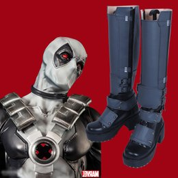 Custom Made Men Shoes Canada - New Type COS X-Men Deadpool Wade Wilson Cosplay Shoes Accessories Boots Customized High Quality for Unisex