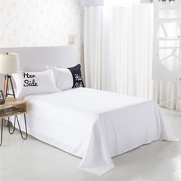 Discount california king beds - Wholesale-Her Side His Side Couple's Bedding Sets 4 pcs 3pcs Duvet Cover Bed Sheet Pillow Cases Size EU CN US Queen