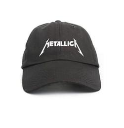 Gorras de visera deportiva Metallica Black Sombrero de papá no estructurado  Gorra de béisbol star boy girl hip hop sombreros 6 panel xo bone gorras swag 5bd586039ae