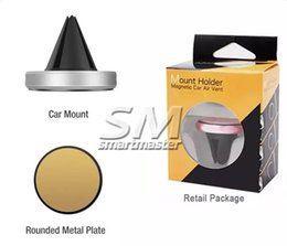 Wholesale Car Mount Air Vent Magnetic Universal Car Mount Phone Holder Handfree Dashboard Phone Metal Stand For iphone Samsung cell phone