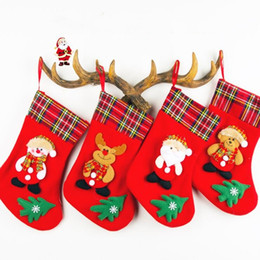 College Christmas Gifts NZ - Christmas socks gift bags lugs lipstick velvet medium santa socks christmas tree decorations factory price top quality