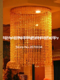Wholesale hangging only for wedding hall Crystal chandelier table decorations wedding flower stand centerpieces