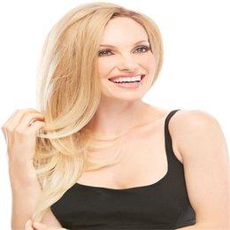 Ingrosso Oulaer 22 # Biondo diritto serico pieno pizzo capelli umani brasiliani remy parrucche dei capelli umani per le donne 8-22 '' parte centrale parrucche piene del merletto