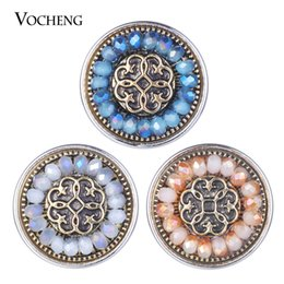 noosa ginger snap buttons Australia - VOCHENG NOOSA Ginger Snaps Charms Colorful Vintage 3 Colors Snap Button Jewelry 18mm Vn-1843