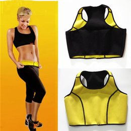Barato Sutiã Esportivo Quente-Hot Neoprene Sports Sutiã Slimming Shapers Sutiã Hot shapers Vest Body Shaper Mulheres coletes esportes Tops Tanques B266-5