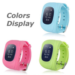 Safety Gps Canada - Q50 kids smart watch kids gps watch phone safety with SOS children anti lost watch for IOS Android phone 5 colors available with retail box