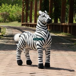 stuffed forest animals NZ - Dorimytrader Cute New 110cm Large Soft Emulational Forest Animal Zebra Plush Toy 43'' Big Stuffed Zebra Doll Photography Props DY60800