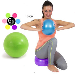 blue jumping ball Australia - Children yoga fans you pilates ball MINI body fitness Massage ball jump hold small yoga ball