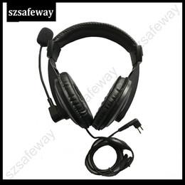 venda por atacado Fone de ouvido de rádio em dois sentidos com vox PPT empurre para falar e Swivel Boom Mic para walkie talkie Motorola CP040, CP200, GP300, GP88 etc