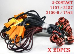 $enCountryForm.capitalKeyWord Canada - 20PCS 1157 3157 7443 3156-B 50W 6ohm Gold Fuse LED Bulbs Fog Turn Brake Signal Load Resistor Wiring Canbus Free Flash Blink Hyper 2-Contact