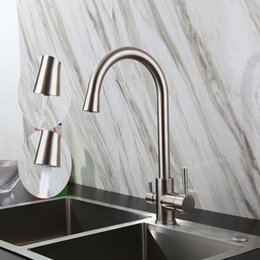Discount Kitchen Sink Drinking Water Tap Contemporary 3 Ways Sink Mixer  Water Filter Tap 304 SUS