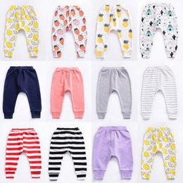 Pantalons Pp Bébé Fruits Pas Cher-11 Styles Ins Baby Fruit PP Pantalons Toddler Boys Girls Pantalons Longs Pantalons Stripe Leggings Pantalon Harem