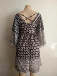 $enCountryForm.capitalKeyWord Canada - Bohemian Vintage Ethnic Style Women Autumn Summer Dress Geometric Printed O-Neck 3 4 Sleeve Mini Straight Shift Dresses Vestidos yw-005