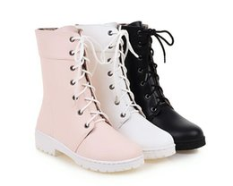 Short loop online shopping - Autumn winter female boots flat boots Martin boots in British wind short boots with cotton shoes