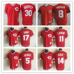 dfe1319caf2 ... Men Cincinnati Reds 5 Johnny Bench 11 Barry Larkin 17 Chris Sabo Red BP  30 Ken ...