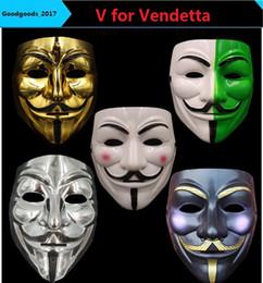 Máscaras do partido V para a Vingança Máscara Anônimo Guy Fawkes Fancy Dress Adult Acessório Acessório Partido Cosplay Máscaras M789