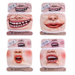Toptan satış Yeni Tasarım Yenilik Sevimli 3D Komik İfade Pamuk Ağız Yüz Maskesi Sağlık Bisiklet Maske Sıcak Ücretsiz Kargo