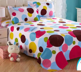Extra long shEEts online shopping - LY BSH006 cotton S cartoon design reactive printed bed sheet bed cover home textile beddings sheets
