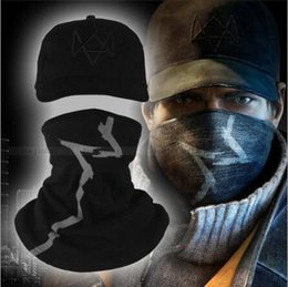 $enCountryForm.capitalKeyWord Canada - New Year Watch Dogs Aiden Pearce Face MASK Cap Cotton Hat Set Costume Cosplay Mask Hat Mens 6 Panel Tactique Baseball Caps 2 Pieces set