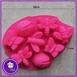 $enCountryForm.capitalKeyWord Canada - Garden insects shape 8 holes Silicone Mold Cake Decoration tools Food Grade cake soap chocolate Moulds baking bakeware