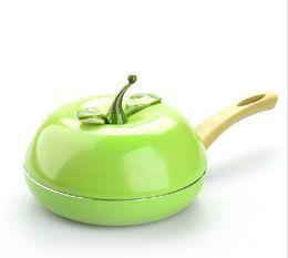 Chinese  Hot Sale Fruit Frying Pan Colour Saucepan Ceramic Grill Pan Cast Aluminum Cookware Gas Grill Pan manufacturers