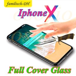 Iphone Glasses NZ - For Iphone 8 Plus Iphone X Iphone 7 Plus 6S Full Cover 3D Tempered Glass Screen Protector 9H Edition Anti-shatter Film With Paper Package