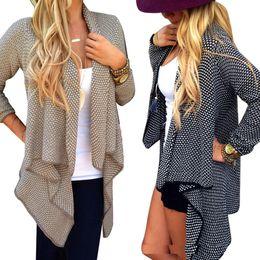 $enCountryForm.capitalKeyWord Canada - 2017 Hot Sale Autumn Winter Fashion Women Loose Knit Waterfall Cardigan Jacket Long Sleeve Irregular Sweater Coat Plus Size