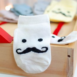Barato 3t Atacado-Venda Por Atacado New Fashion Cotton Funny Beard Moustache Baby Socks Newborn Infant Girl Boy Meias 1-4 Anos