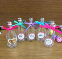 $enCountryForm.capitalKeyWord NZ - Candy Box Candy and Tea Food Packing Bottles Favor Holders Champagne Shape Wedding Favors Gift Boxes Plastic Party Supply
