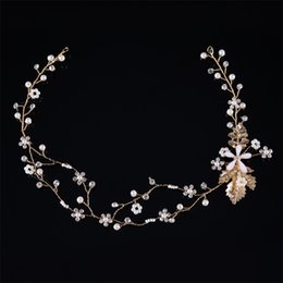 $enCountryForm.capitalKeyWord NZ - Handmade Headbands Women Crystal Pearl Jewelry Forehead Hair Ornaments Marriage Crystal Decoration Festival Gifts Wedding Party