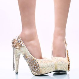 $enCountryForm.capitalKeyWord NZ - Gorgeous White AB Rhinestone Women High Heel Party Prom Shoes Phoenix Crystal Bridal Wedding Shoes Graduation Party Pumps