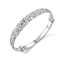 $enCountryForm.capitalKeyWord UK - 925 Silver plated stars cuff bangle bracelets Jewelry for Women Expandable Wire Bangles Bracelets birthday gift
