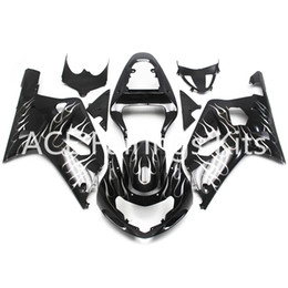 fairings for UK - 3 free gifts New Hot ABS Injection motorcycle Fairing kits 100% Fit For Suzuki GSXR600 GSXR750 K1 00-03 2000 2001 2002 2003 BlackWhite flame