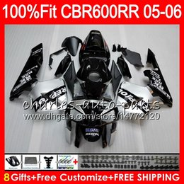 $enCountryForm.capitalKeyWord Australia - 8Gifts 23Colors Injection For HONDA CBR 600 RR CBR600RR 05 06 44HM6 Repsol silver CBR 600RR F5 03 04 CBR600F5 CBR600 RR 2005 2006 Fairing