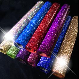 $enCountryForm.capitalKeyWord Canada - factory 24*40cm 888 crystal Beads Trims Rhinestone Iron On Transfer Design Mesh Strass Crystal Roll Wedding Bridal Decoration