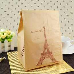 $enCountryForm.capitalKeyWord Canada - Baking Package Kraft Paper Bread Shredded Bread Shop DIY Donuts Bags Transparent Windows Toast Bags Kitchen Storage Accessories