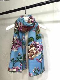 $enCountryForm.capitalKeyWord Canada - (High quality custom) Wool blooms Cashmere Shawl Scarf print printing new Geranium oil painting style flowers, size 70*180