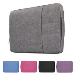 Macbook Retina 13 Inches Australia - Laptop Bag Women Men Handbag Zipper Sleeve Denim Bags For New Macbook Air Pro Retina Touch Bar Cases 11 13 15.6 inch