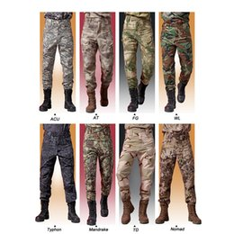 Ejército Uniforme Estilos Baratos-Caza al aire libre Shooting Battle Dress Uniforme Camo Tactical Army Camuflaje Ropa de Combate Quick Dry IX7 Estilo Pantalones SO05-114B